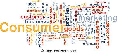 concept, consommateur, fond