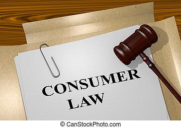 concept, consommateur, légal, droit & loi