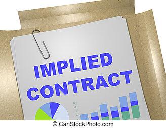 concept, contrat, implied