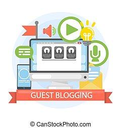 concept., convidado, blogging