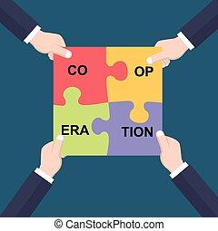 concept, coopération