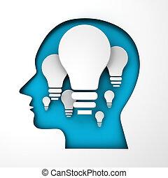 concept, copyspace, idée, render, 3d