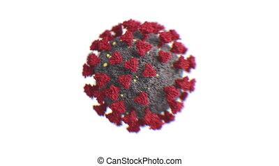 concept., coronavirus, chińczyk, 3d, covid-19, 3840x2160., ...