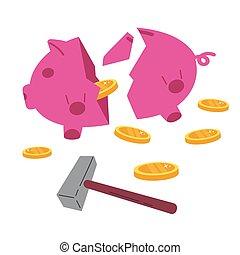 Concept coronavirus economic crisis. Quarantine
