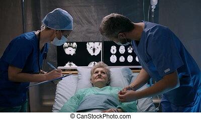 concept., coronavirus, patient, hôpital, quarantaine, ...