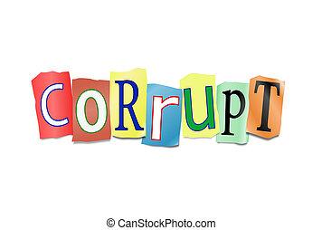 concept., corruptie