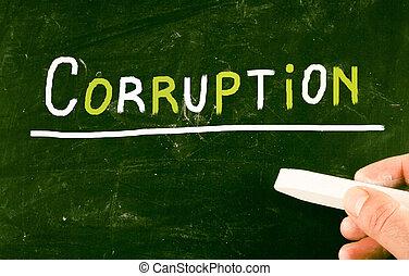 concept, corruptie