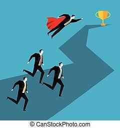 concept., corsa, competition., affari