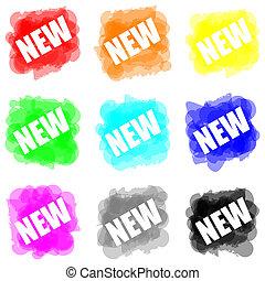 concept, couleur, peinture, ensemble, nouveau, splat