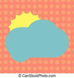 concept, couleur, pelucheux, promotionnel, vide, nuage, briller, annonces, espace, soleil, isolé, derrière, gabarit, vide, business, affiche, matériel, affiches, copie, bons, dissimulation, vecteur