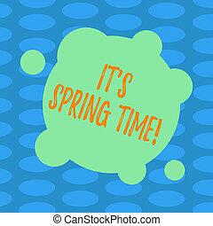 concept, couleur, printemps, résumé, photo., il, mois, forme, temps, vide, écriture, time., texte, cercles, business, ensoleillé, fleurs, grand, mot, déformé, s, petit, rond