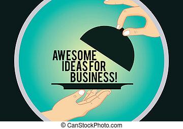 concept, couleur, texte, impressionnant, servir, circle., couvercle, idées, écriture, surprenant, business, business., hu, mains, levage, grand, mot, intérieur, haut, analyse, croissant, stratégies, plat, plateau