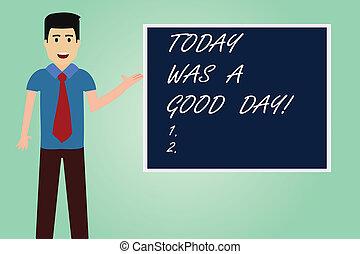 concept, couleur, texte, photo., conversation, temps, vide, debout, lotissements, écriture, day., carrée, planche, cravate, apprécier, était, aujourd'hui, bon, signification, homme, grand, moment, présentation, amusement, écriture, avoir