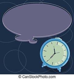 concept, couleur, texte, promotionnel, conception, vide, toile, horloge, parole, gabarit, bulle, vide, business, matériel, copie, contour, reveil, haut, pensée, vecteur, railler, bannières