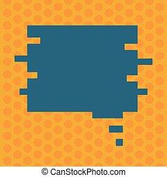 concept, couleur, texte, puzzle, promotionnel, forme, conception, vide, toile, annonces, parole, gabarit, présentation, vide, business, matériel, copie, bulle, haut, vecteur, railler, bannières, morceau
