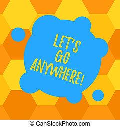 concept, couleur, texte, résumé, photo., forme, anywhere., vide, sortir, visite, étrangers, demander, nouveau, cercles, signification, laisser, démontrer, endroits, déformé, s, petit, rencontrer, écriture, rond