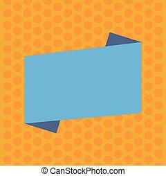 concept, couleur, texte, vide, promotionnel, conception, bande, toile, style, plié, gabarit, vide, plat, business, annonce, affiche, matériel, copie, bannière, haut, vecteur, railler, bannières