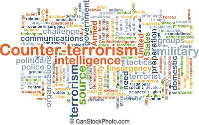 concept, counter-terrorism, achtergrond
