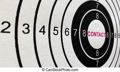 concept, coup, contact, cible, chariot