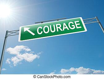 concept,  courage