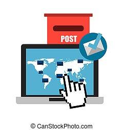 concept, courrier