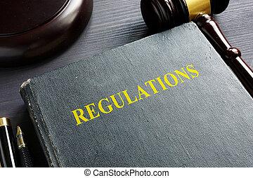 concept., court., regulamentos, livro, gavel, lei