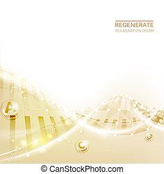 concept, crème, cosmetic., vitamine, arrière-plan., soin peau, régénérer