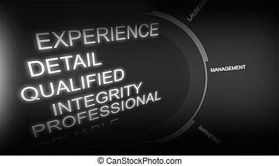 concept, créatif, image, recrutement