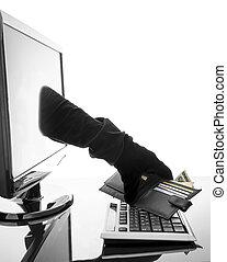 concept, crime internet