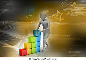 concept, croissance, business