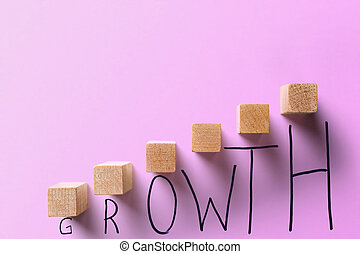 concept., croissance, business