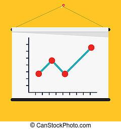 concept., croissant, illustration, graph., profit, business