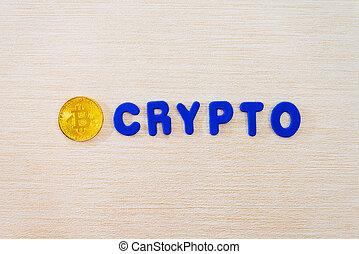 concept, crypto, bitcoin, monnaie, technologie informatique