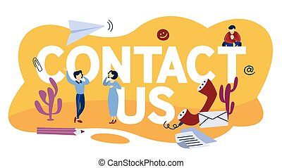 concept, customers., communication, nous, contact, illustration.