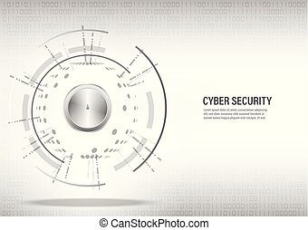 concept, cyber, achtergrond., digitale , veiligheid, witte
