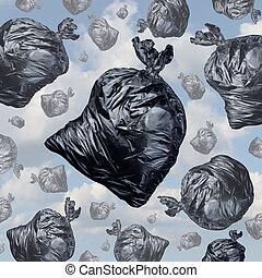 concept, déchets