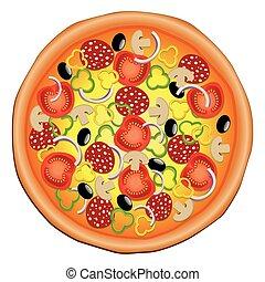concept, délicieux, pizza