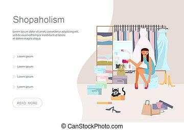 concept, dépendance, achats