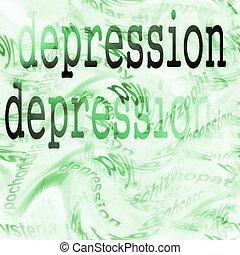 concept, dépression