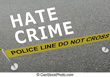 concept, détester crime