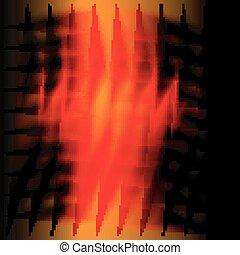 Concept dark orange background