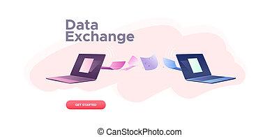 concept., dati, scambio