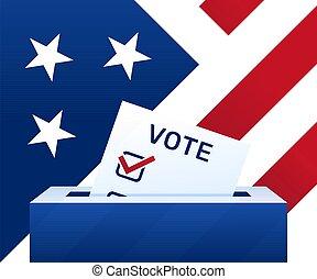 concept, day., paper., vote, states., vote, campagne, élection, -, uni, politique