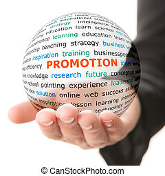 concept, de, promotion, dans, business