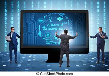 concept, de, quantum, calculer, à, homme affaires