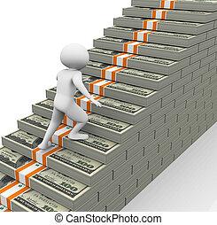 concept, de, revenus, croissance