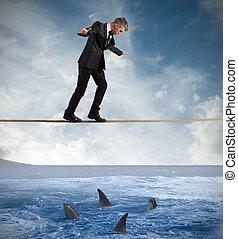 concept, de, risque, dans, business