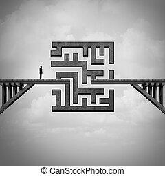 concept, de, sentier, défi