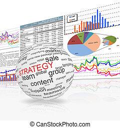 concept, de, stratégie, dans, business