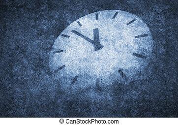 Concept deadline - Shortly before deadline. Grunge concept...